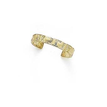 14k Yellow Gold Greek Key Toe Ring Jewelry Gifts for Women - 1.3 Grams