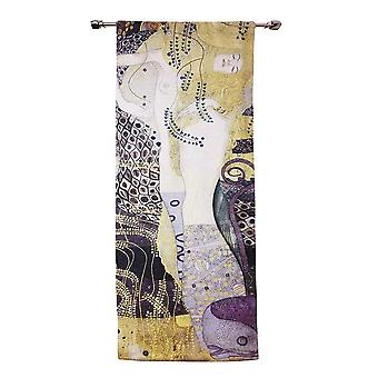 Gustav klimt - portrait of sea serpent wall hanging by signare tapestry / 68cm x 173cm / wh-gk-sspt