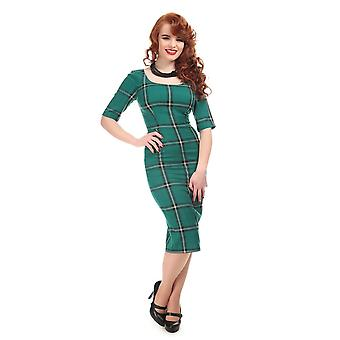Collectif Vintage Women's Amber Evergreen Print Pencil Dress