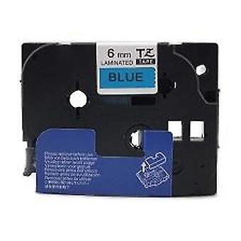 Kaseta Prestige™ kompatybilna tz-511/tze-511 czarna na niebieskich taśmach etykietowych (6mm x 8m) do maszyn do drukowania etykiet p-touch brata
