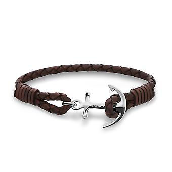 Tom Hope Havana Brown Sterling zilveren armband grote TM0212