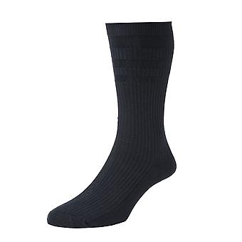 Ladies HJ91 HALL SOFTOP Soft Top loose top Wide Cotton Rich Socks 4-7 Black