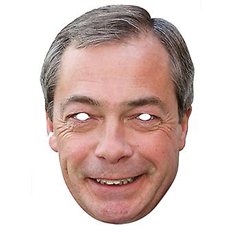 Nigel Farage UKIP Leder Celebrity Card Party Fancy Dress Mask