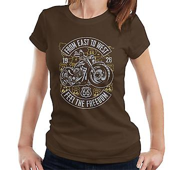 Route 66 From East To West Biker Women's T-Shirt