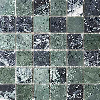 Mosaik D-Zeichen Verde Marmor