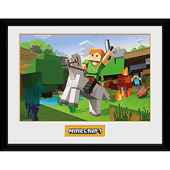 Minecraft - Painting, Zombie Attack