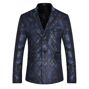 Allthemen Men's Printed Suit Jacket Formal Wedding Party Banquet Dress Suit Jacket