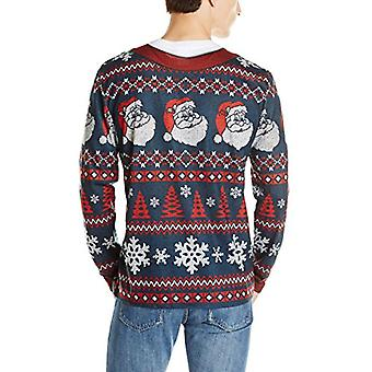 Faux Real Men-apos;s 3D Photo-Realistic Ugly Christmas Sweater T-Shirt à manches longues...
