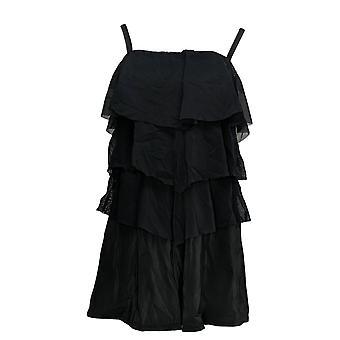 Fit 4 U Swimsuit Bandeau V-Tiered Mesh Romper Black A286399