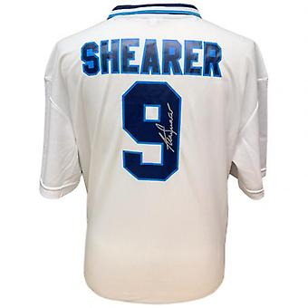 Inghilterra FA Shearer Firmato Camicia