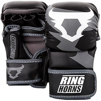 Ringhorns Charger MMA Sparring Gloves Black/White