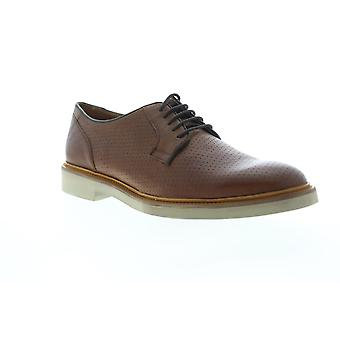 Geox U Damocle  Mens Brown Leather Casual Lace Up Oxfords Shoes