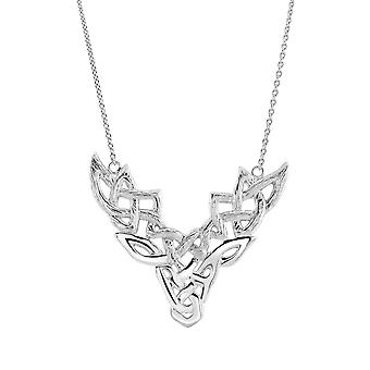 Kit Heath Heritage Sterling Silver Celtic Creatures Majestic Stag Necklace 9252HP
