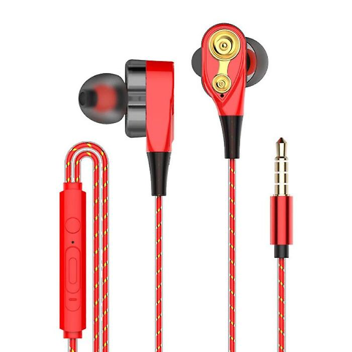 Rovtop Z2 Wired Earphones Ecouteur Earphones with Microphone Red