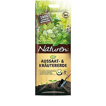 SUBSTRAL® Natural ® organic sowing & Herbal soil, 20 litres