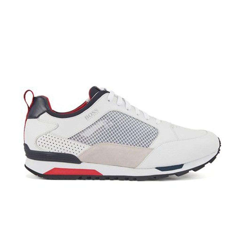 Hugo Boss Footwear Hugo Boss Men's White Parkour Runn Net Trainers