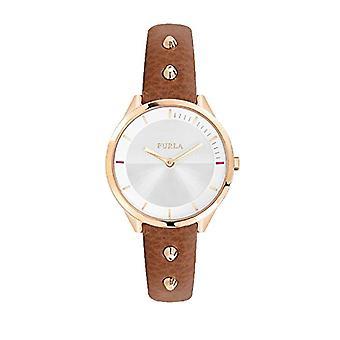 FURLA Analog quartz ladies watch with leather R4251102523