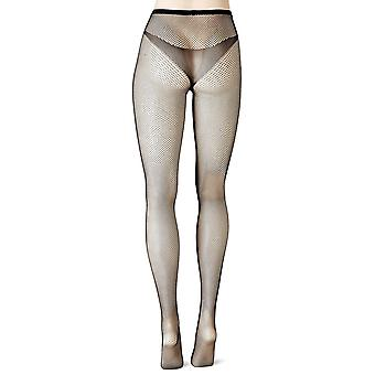 No Nonsense Women's Fishnet Openwork Tight, Black, Medium/Large