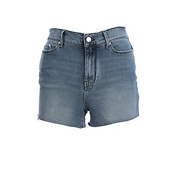 Karl Lagerfeld Klwst000108769 Femmes-apos;s Blue Cotton Shorts