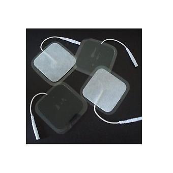 16 Pieces Electrode Pads 40x40mm Reusable. For Tens Ems Stimulation Current Device With 2mm Plug Connection. Reusable !