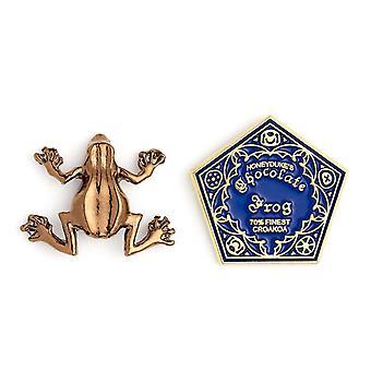 Harry Potter Chocolate Frog Pin Badge Set (2 Pieces)