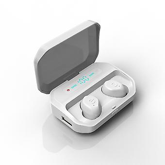 Doppio bluetooth 5.0 tws auricolare wireless display digitale ipx7 impermeabile cuffia in-orecchio con scatola di ricarica del microfono