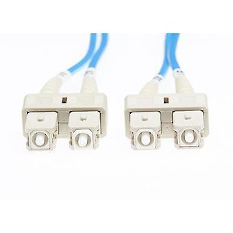 1M Sc Sc Om1 Multimode Fiber Optic Cable Blue