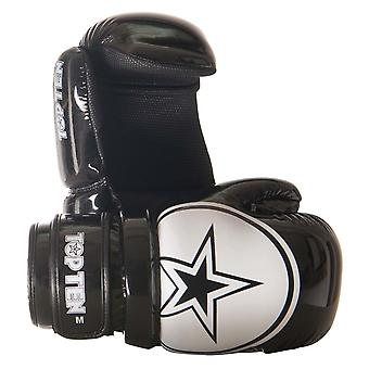 Top Ten Glossy Block Star Pointfighter Guantes Negro/Blanco