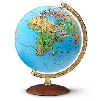 Nova Rico 30cm Safari Plus Children's Globe (Includes Illustrated Book) Illuminated