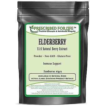 Elderberry - 15:1 Extrato natural de pó de fruta (Sambucus nigra)