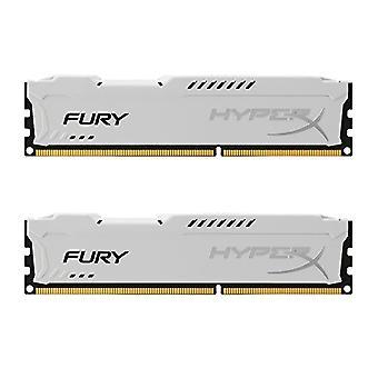HyperX HX318C10FWK2/8 Fury 8 GB (2 x 4 GB), 1866 MHz, DDR3, CL10, UDIMM, 1,35V, Weiß