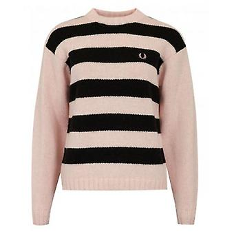 Fred Perry Authentics Striped Logo Knit