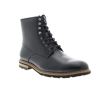 English Laundry Flynn  Mens Black Leather Lace Up Casual Dress Boots