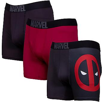 Deadpool Performance Mesh Boxer Briefs 3-Pair Pack