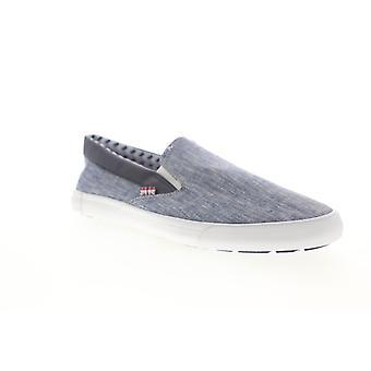 Ben sherman pete slip on miesten sininen kangas lifestyle lenkkarit kengät