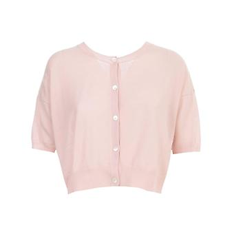 P.a.r.o.s.h. D520670pink Women's Pink Cotton Cardigan