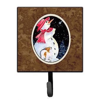 Carolines Treasures  SS8793SH4 Snowman with Papillon Leash Holder or Key Hook