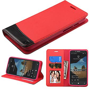 ASMYNA MyJacket wallet Case with card slot for onetouch Fierce XL - Red/Black