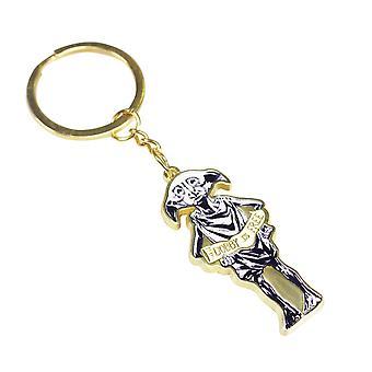Harry Potter keychain Dobby or/noir/blanc, imprimé, 100% métal.
