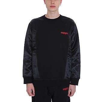 Adidas door Alexander Wang Ezcr024009 Men's Black Cotton Sweatshirt