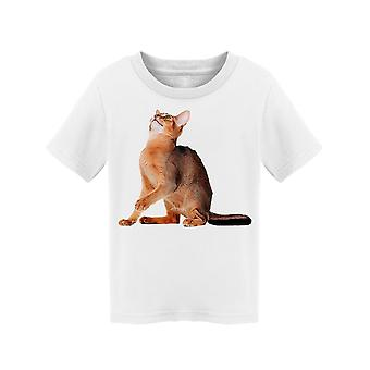 Abyssinian Cat In His Back Legs  Tee Toddler's -Image by Shutterstock