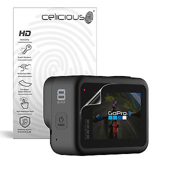 Celicious Vivid Invisible Glossy HD Screen Protector Film Compatible with GoPro Hero 8 Black [Pack of 2]
