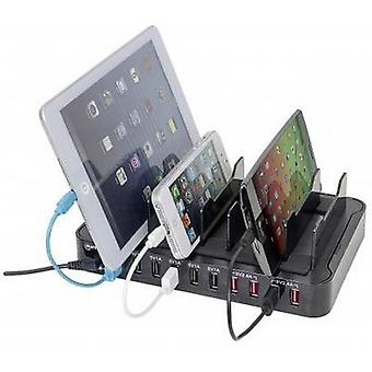 Manhattan 10-Port Charger 180009 USB charging station Mains socket Max. output current 17000 mA 10 x USB