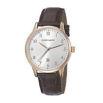 Pierre Cardin heren horloge armband horloge HENRI MARTIN leder PC106671F05