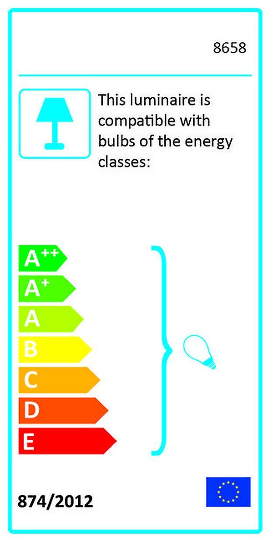 Lampada a Soffitto Oval Color Nero in Metallo, Legno 65x18x22 cm