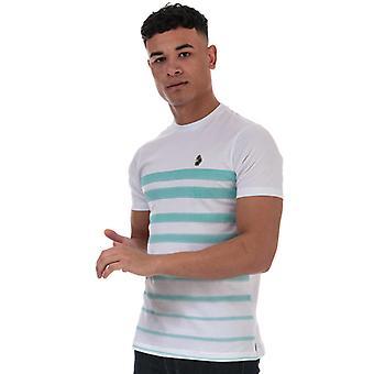 Men's Luke 1977 Option 1 Fade Striped T-Shirt en blanc