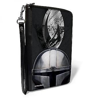 Star Wars The Mandalorian Mudhorn Armor Helmet Zip Around Wallet