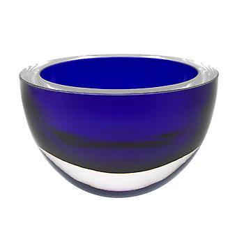 """6"""" Mouth Blæst europæisk Made Lead Free Cobalt Blue Crystal Bowl"""