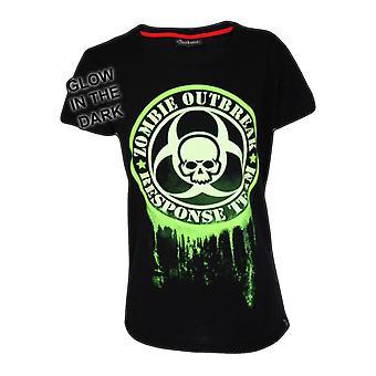 Darkside - zombie bio-hazard glow - womens capsleeve t-shirt