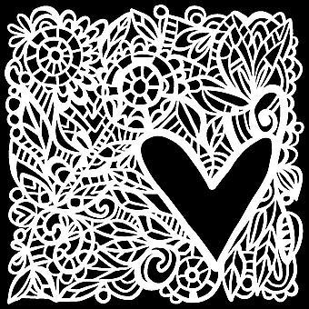 و Crafter & apos;ق ورشة عمل الحب الإطار 6x6 بوصة استنسل